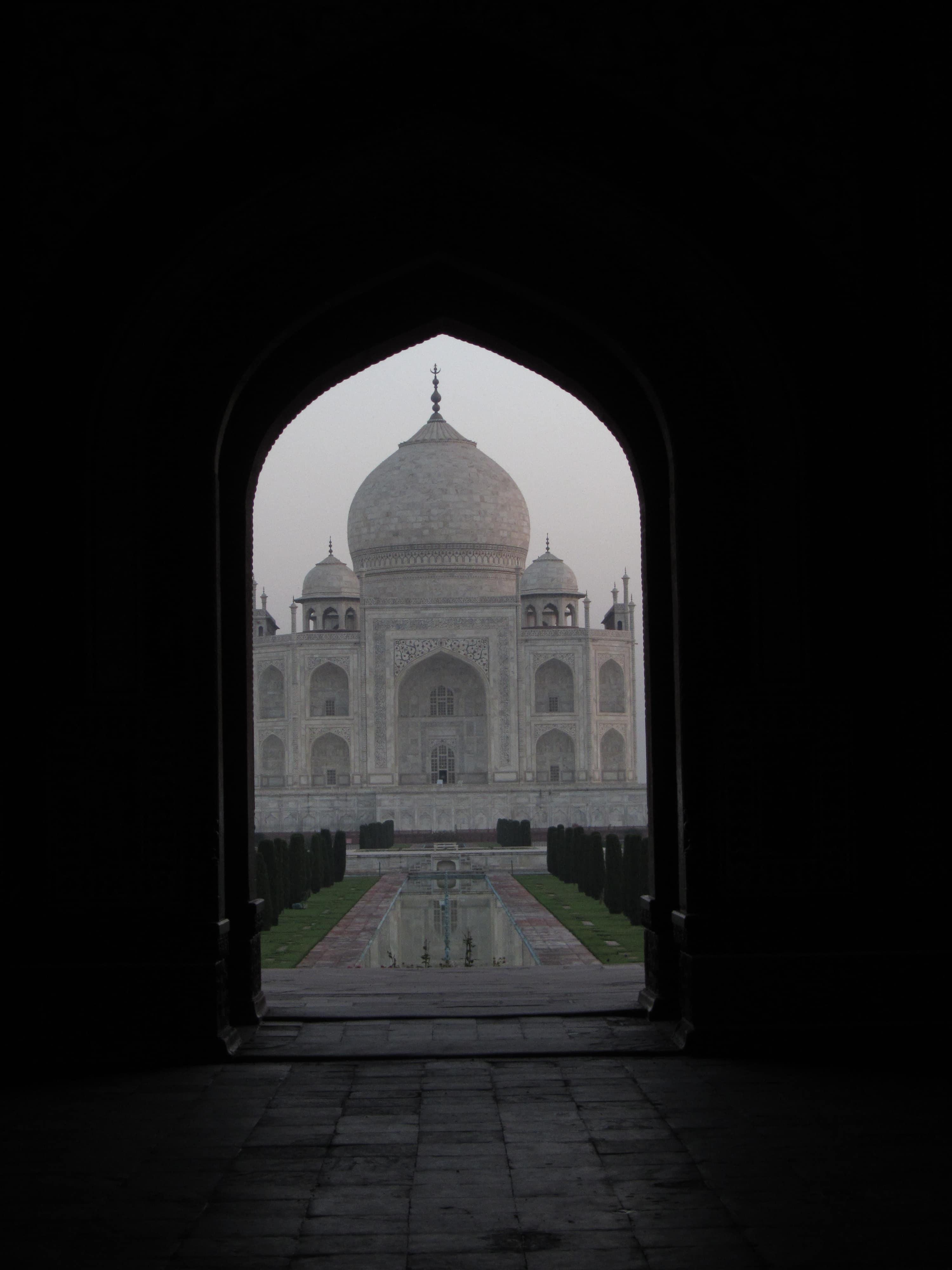 Taj Mahal wschód słońca