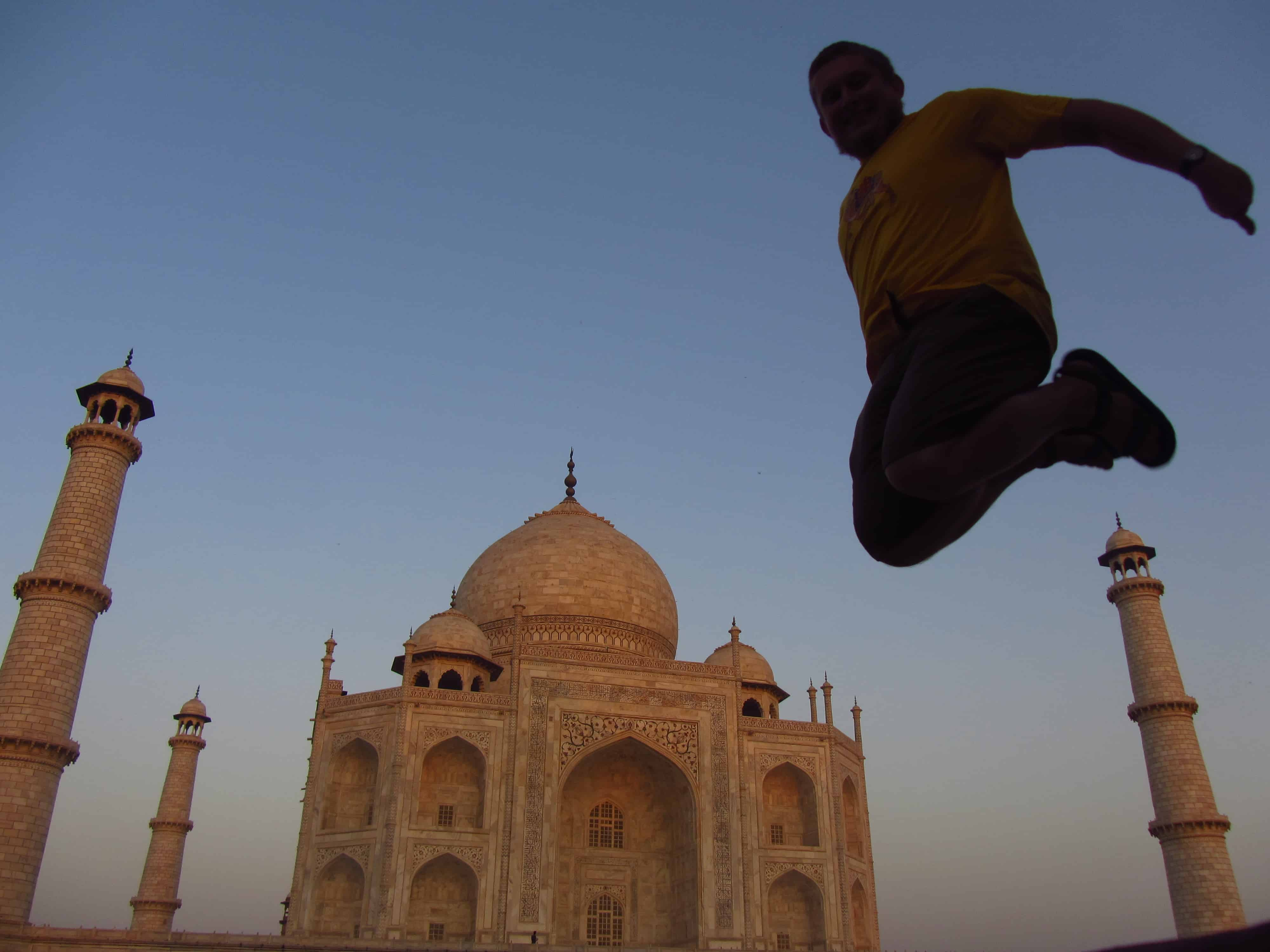 Taj Mahal, wschód słońca