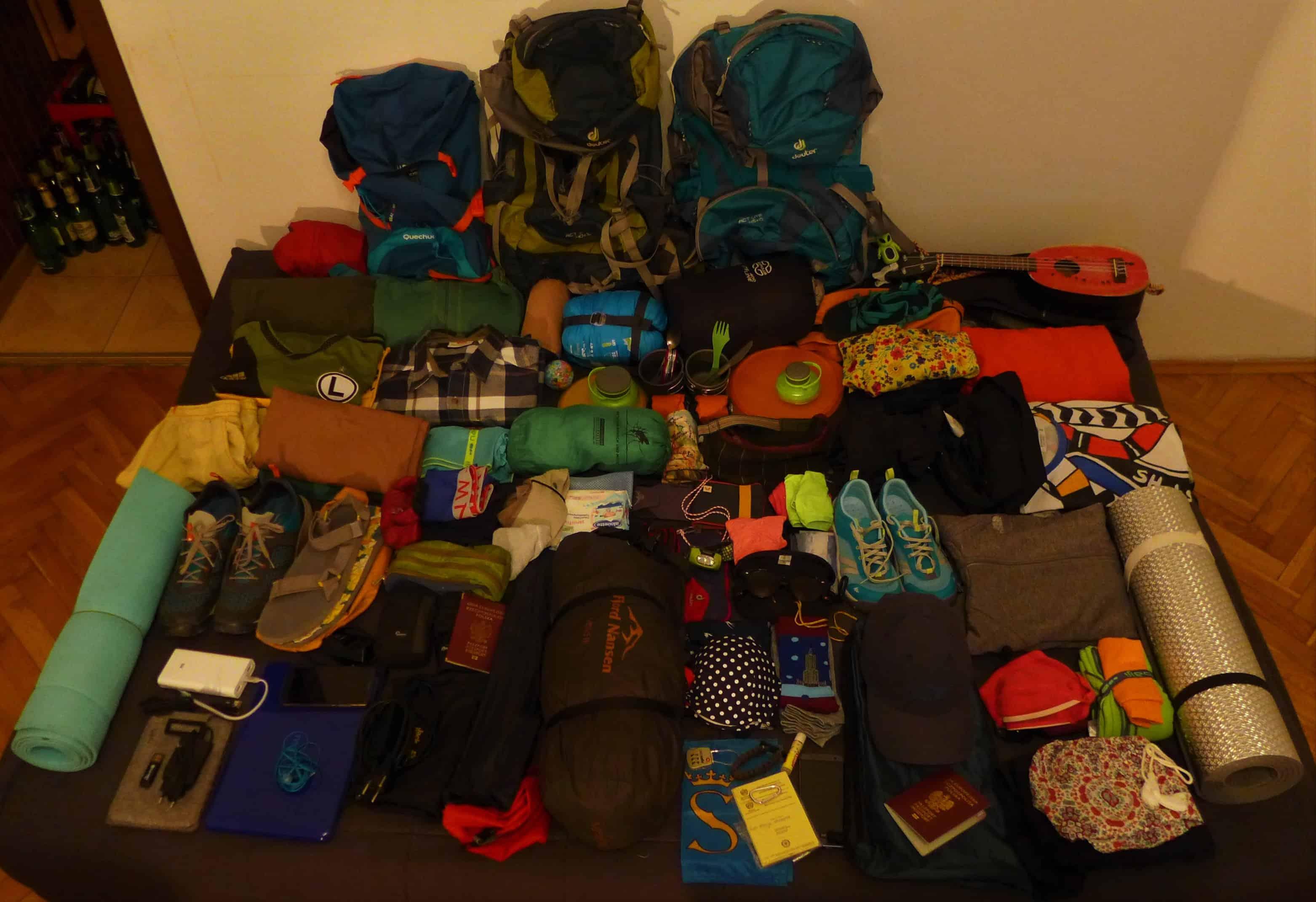 plecak do Azji, jak spakować plecak na podróż