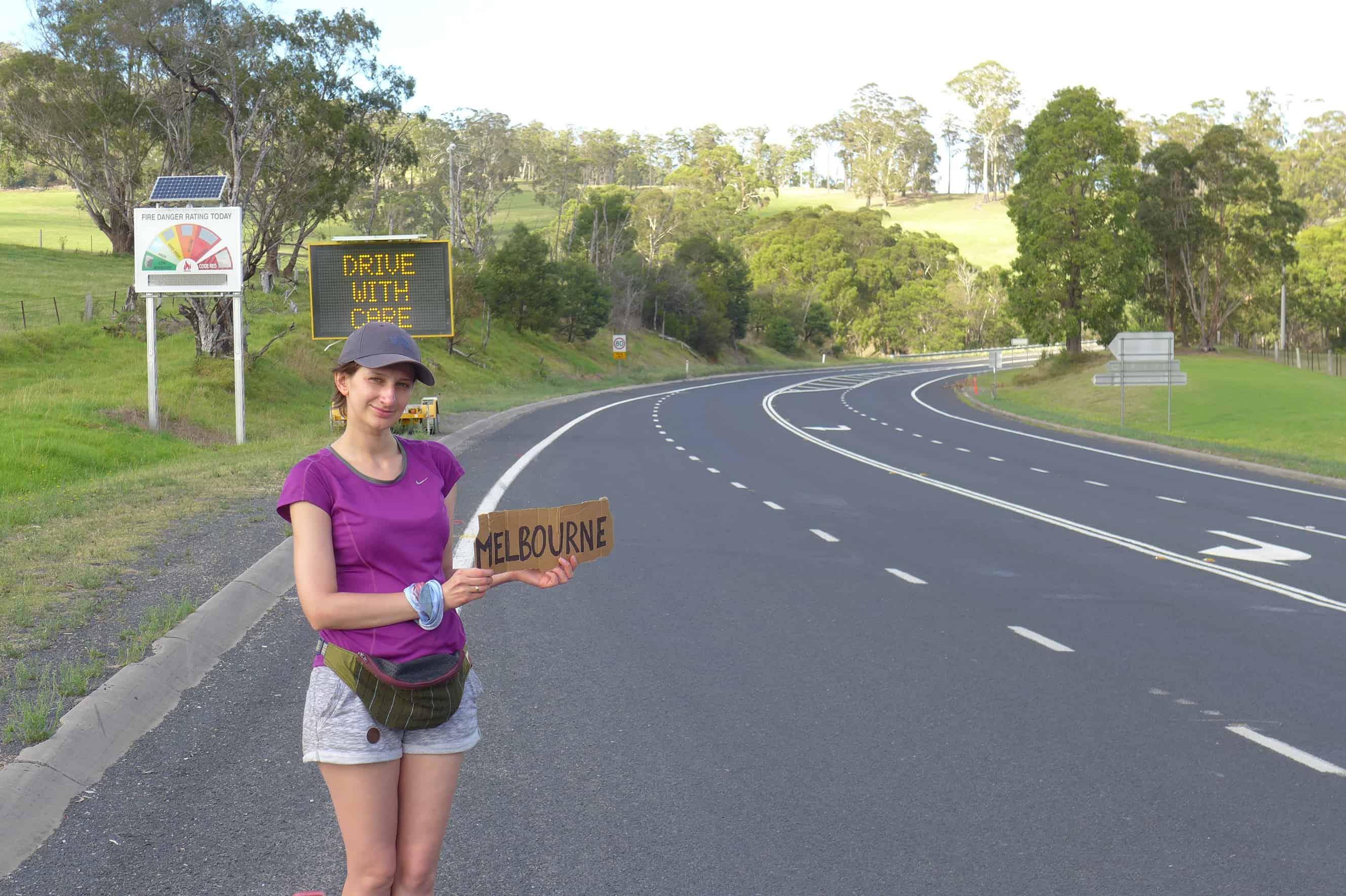 Australia autostopem, Melbourne