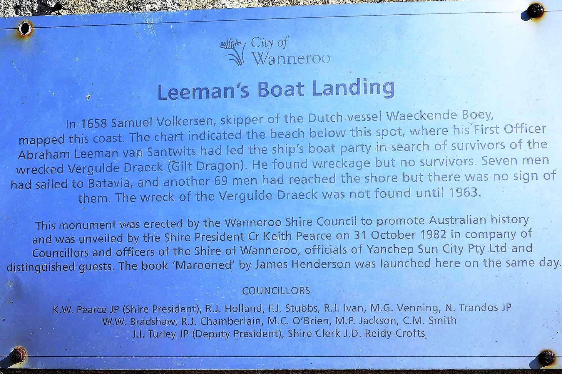 Leeman's boat landing