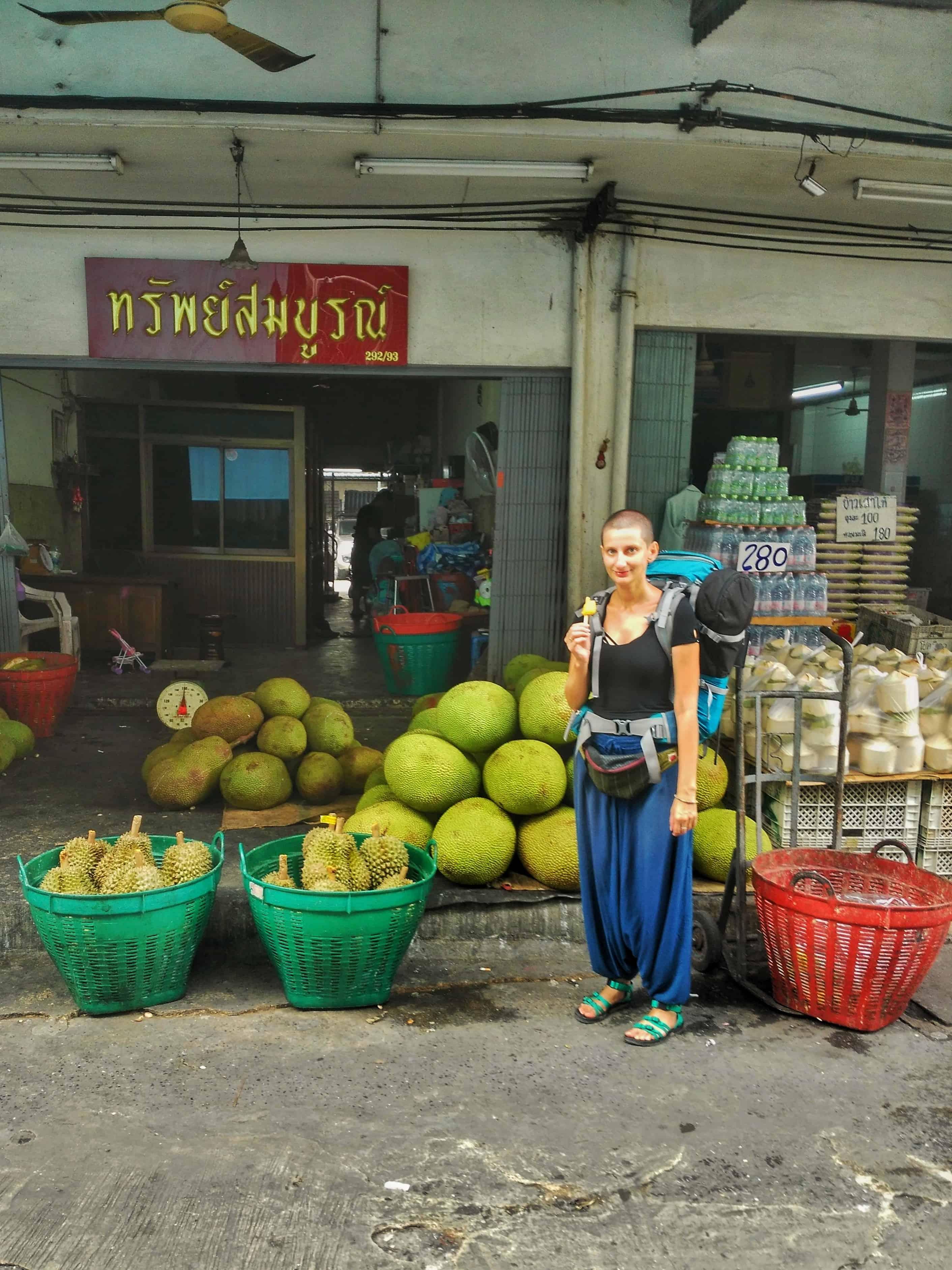 Bangkok, durian, food market