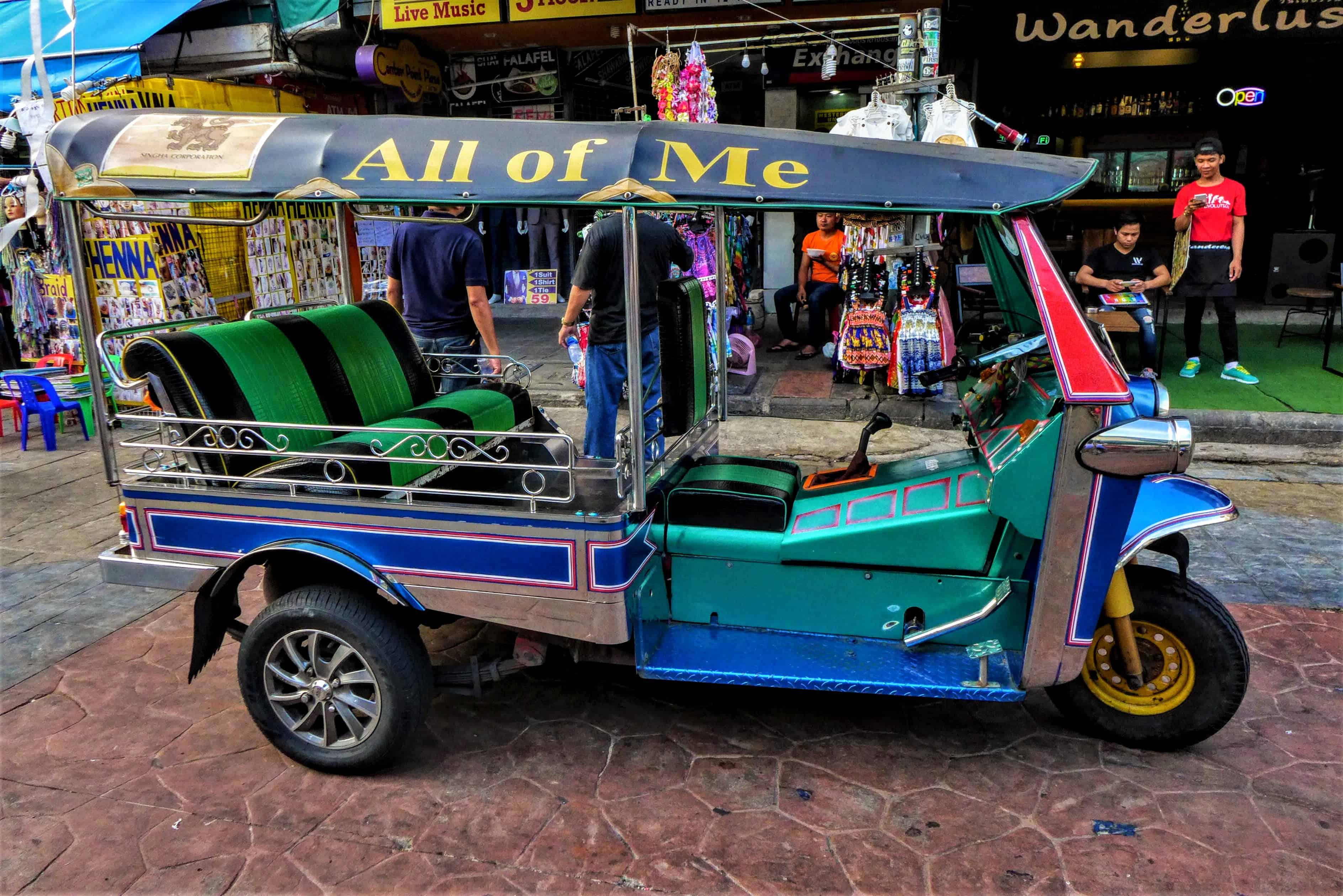 kierowca tuk tuka, Bangkok, Tajlandia, Kambodża