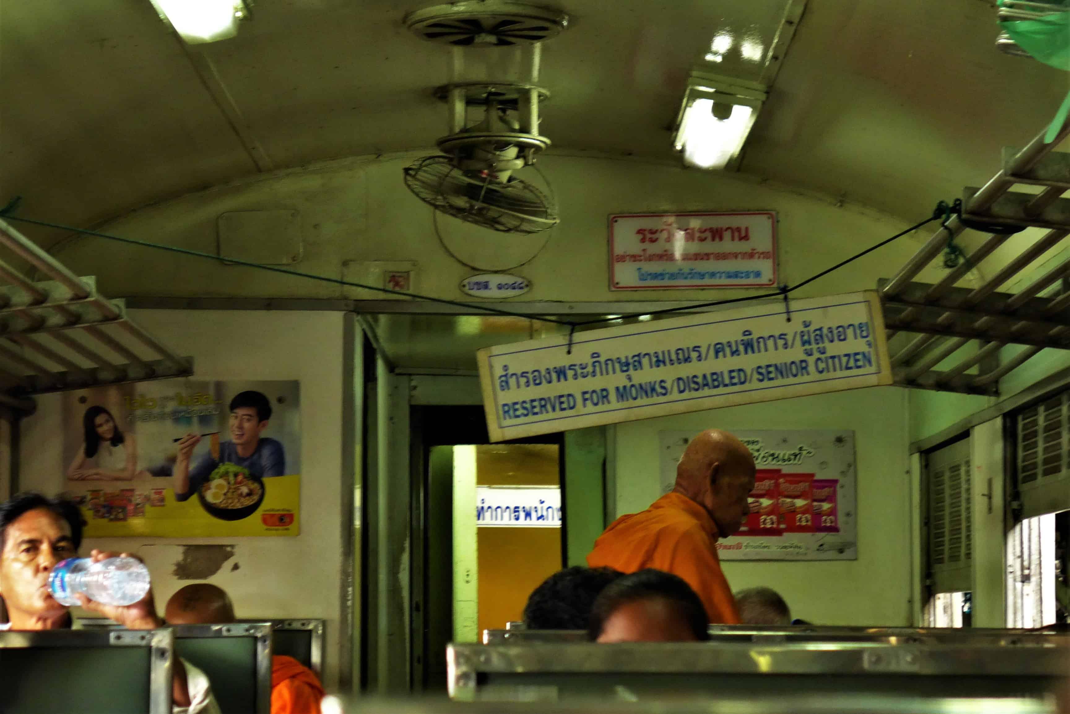 Ayutthaya Bangkok pociąg