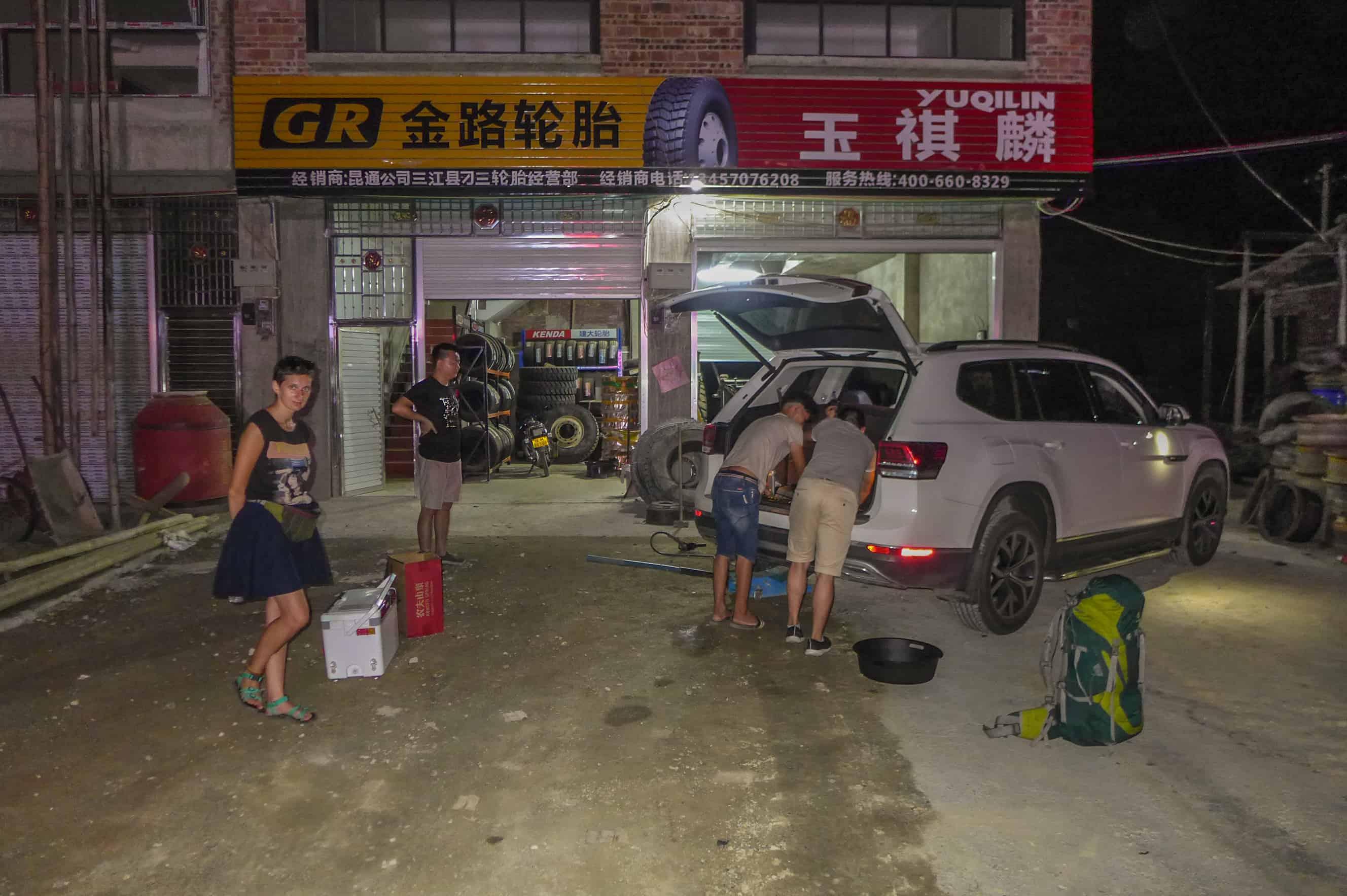 Chiny autostopem