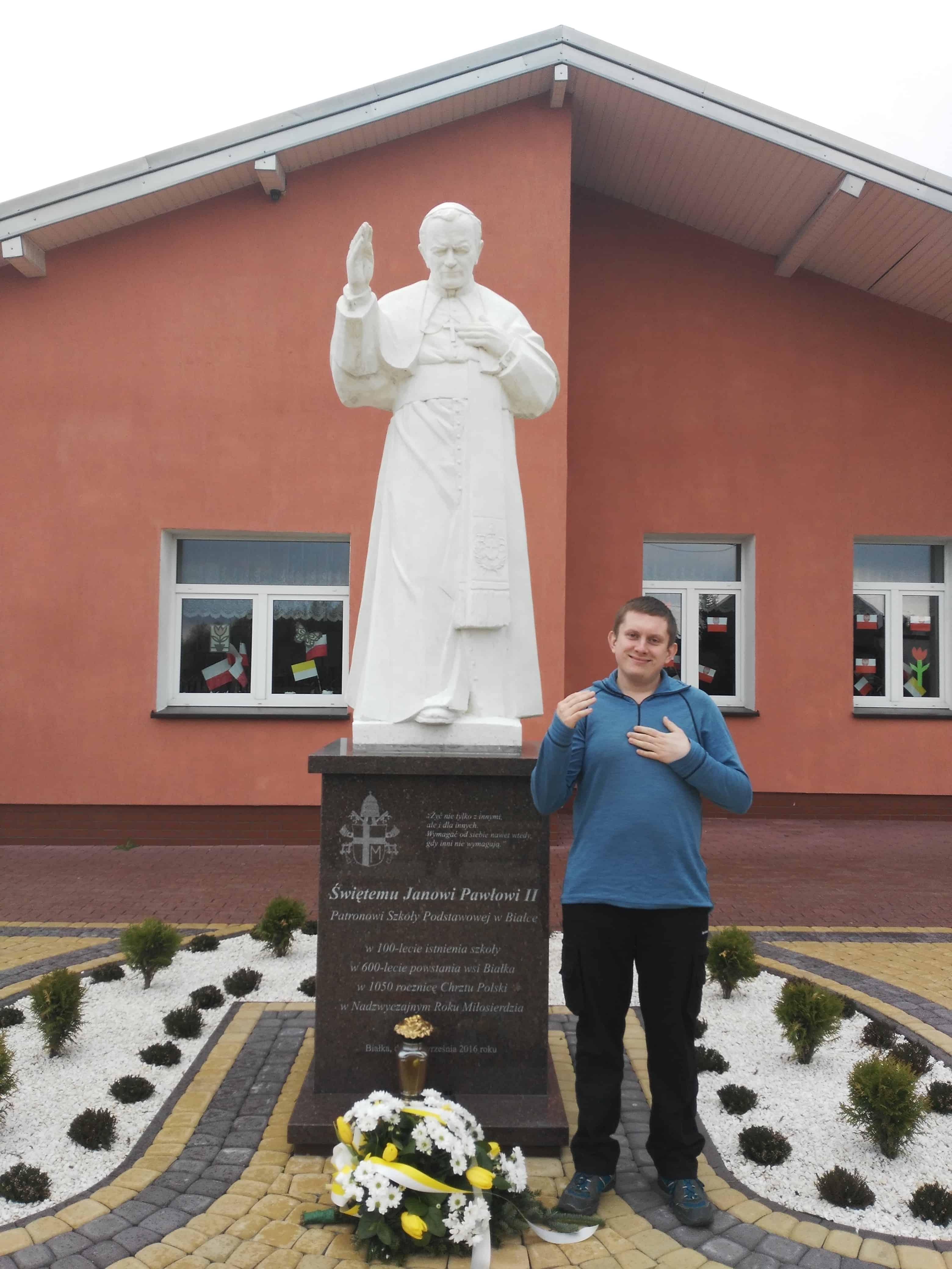 Pomniki Jana Pawła II Białka Podlasie