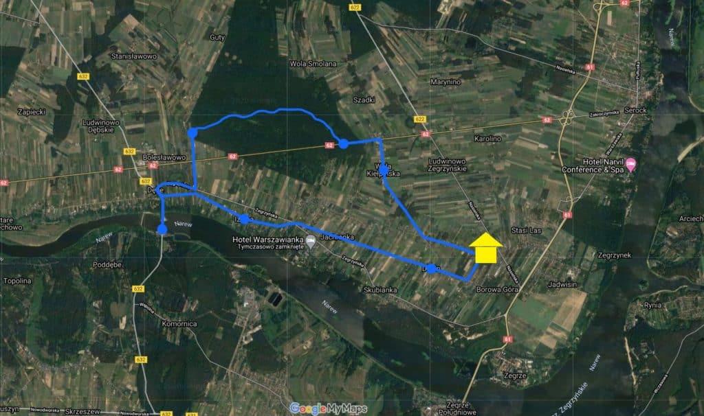 mapa rezerwat zegrze